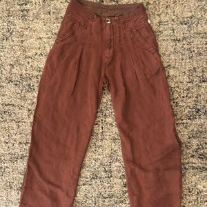 FREE PEOPLE FITTED WIDE LEG PANTS